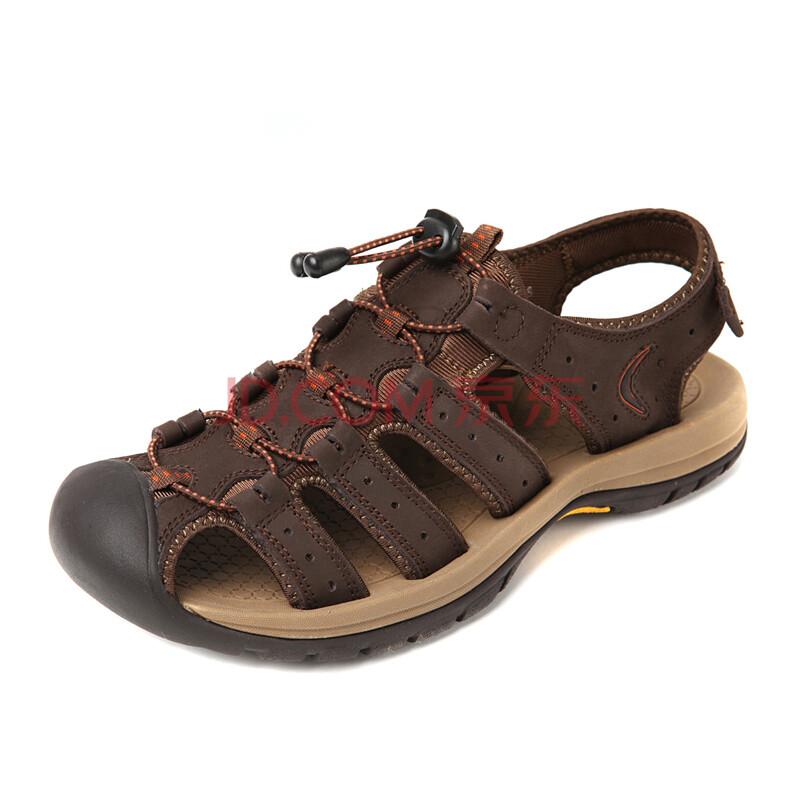 凉鞋男款 真皮男士沙滩鞋
