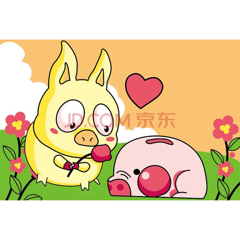 菲绣绣艺 diy数字油画 卡通油画 可爱小猪 10*15 yh-1606图片