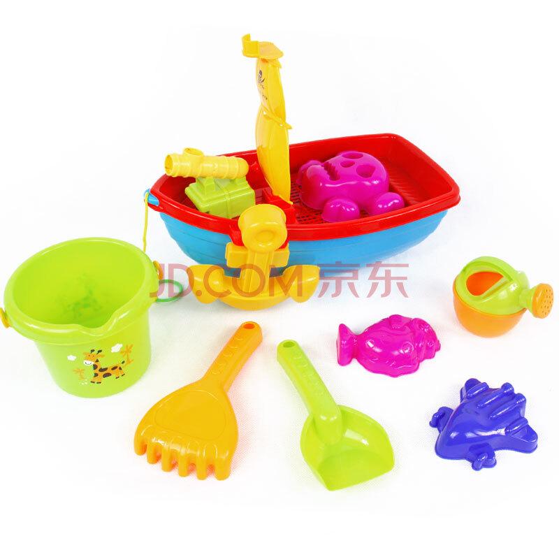 儿童玩具沙滩桶 沙具桶+沙滩船+沙滩工具12件套装