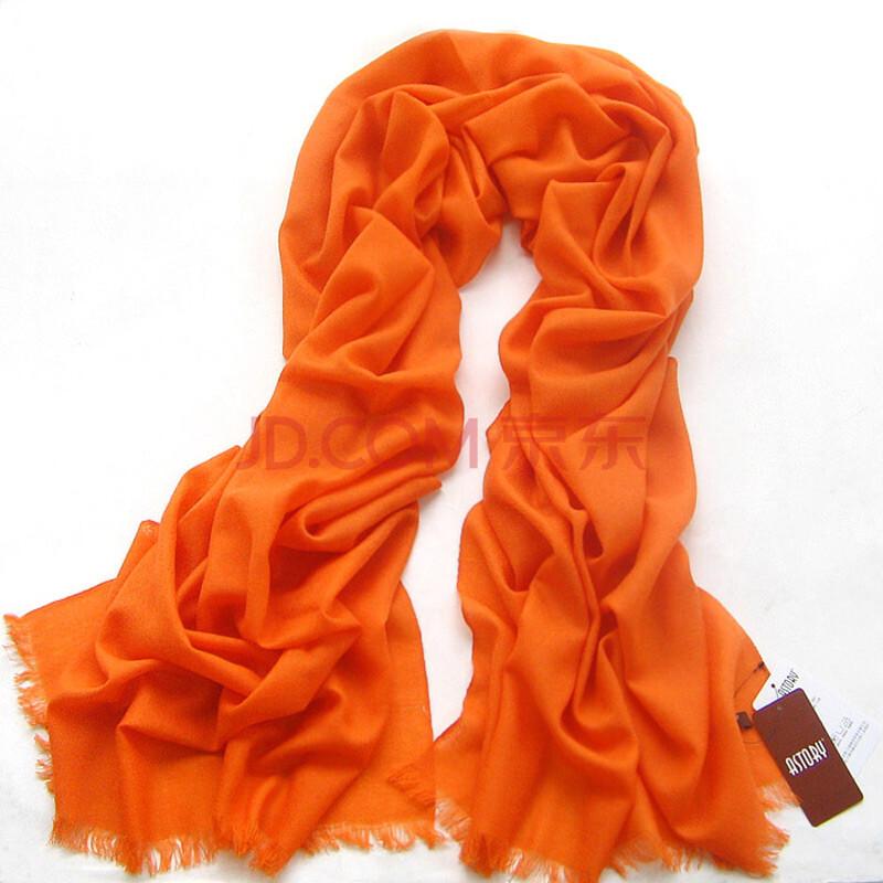 纯羊毛女款纯色围巾