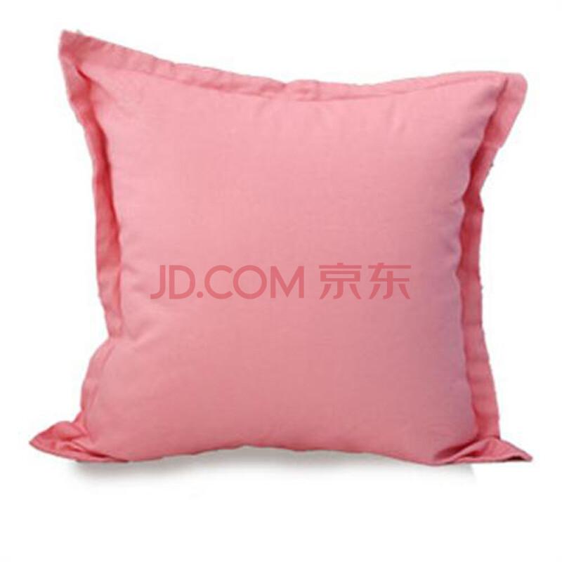 惠粉红_致惠 纯棉帆布抱枕 粉色回忆系列 可拆洗 含芯 粉红纯色宽边款 45cm*