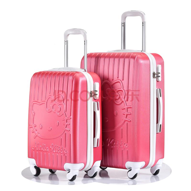 古琦妮hellokitty时尚糖果色登机箱20寸24寸行李箱品质abs万向轮旅行
