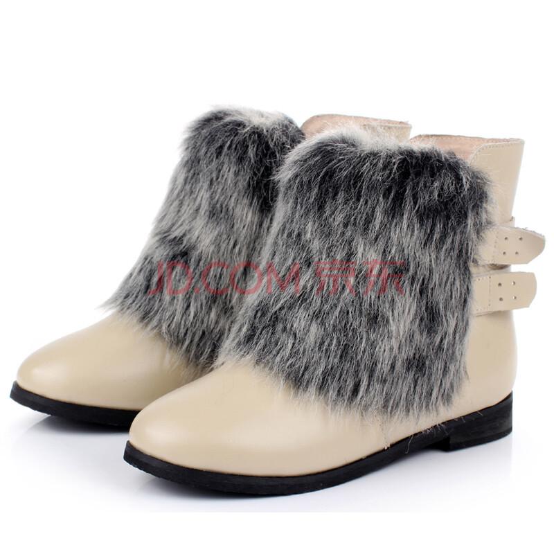 2012秋冬新款韩版儿童靴皮面女童皮靴ud12002