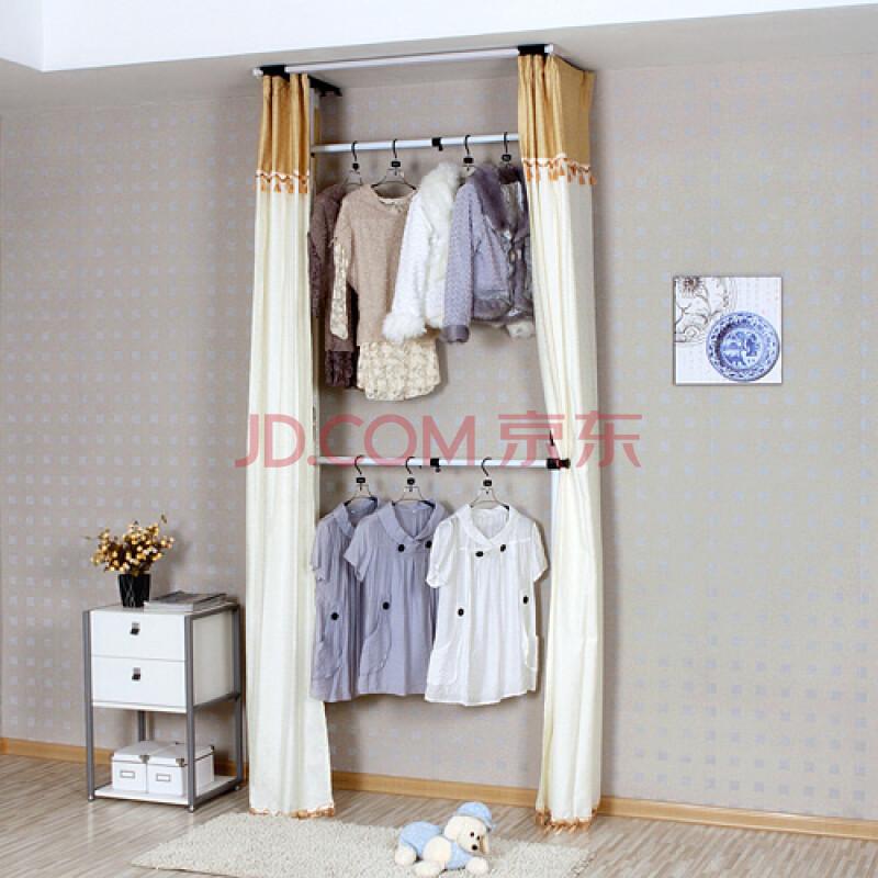 衣柜布帘 榻榻米衣柜布帘图 布帘代替衣柜门效果图-踏踏米衣柜cad图