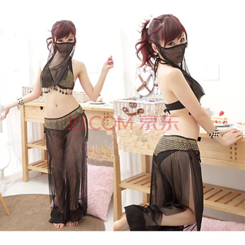 情趣内衣透明睡衣 阿拉伯蒙面纱女郎肚皮舞钢管舞