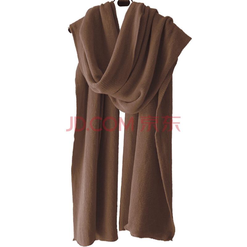 百搭糖果色针织围巾
