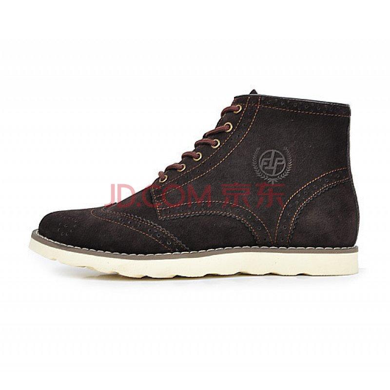 弗汀彼克 英伦复古系带反毛皮休闲鞋 f11027z 褐色 40