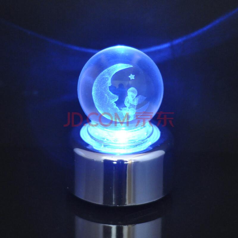 内雕发光水晶球摆件