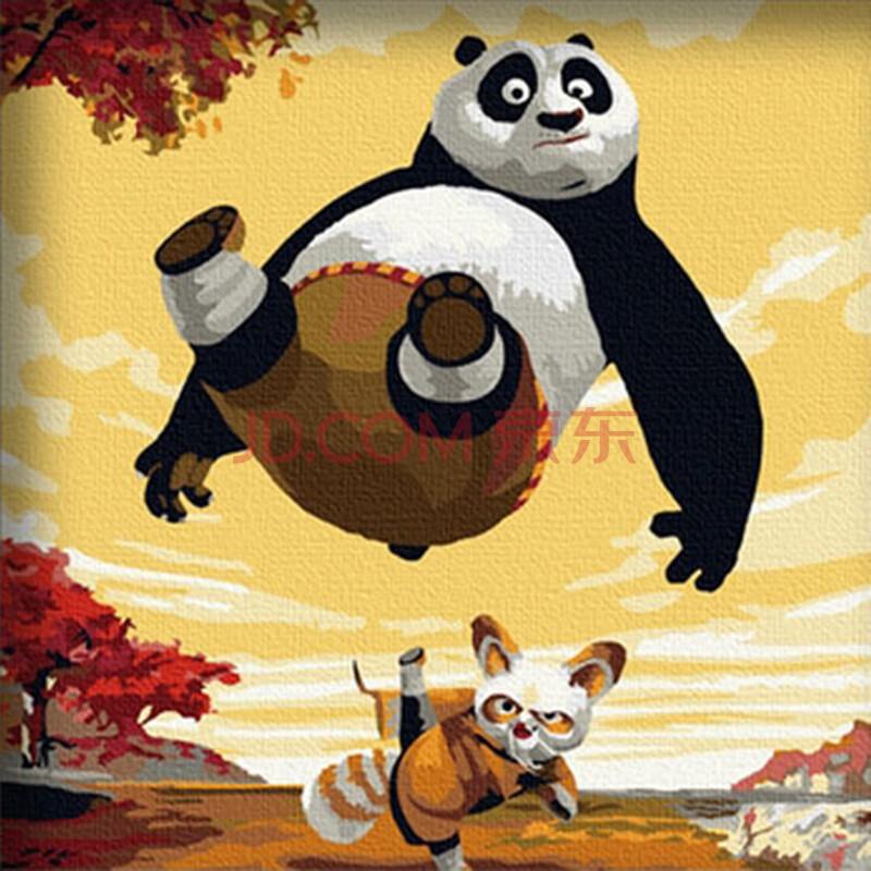 功夫熊猫手绘海报