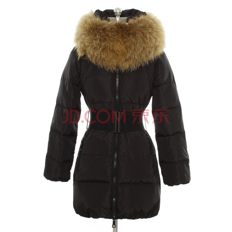 韩都衣舍 2012冬装新款韩版女装毛领收腰长款羽绒服图片