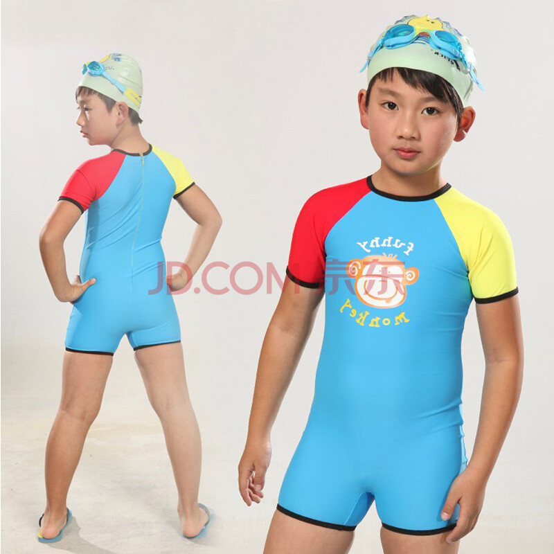 儿童泳衣短袖连体