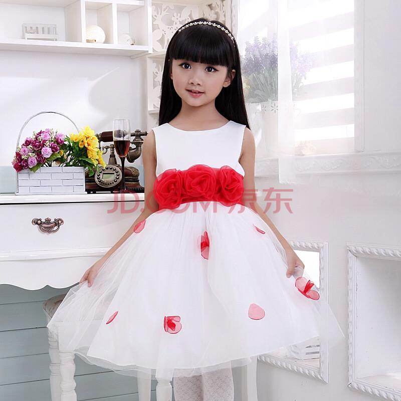 花仙子儿童婚纱裙礼服裙服