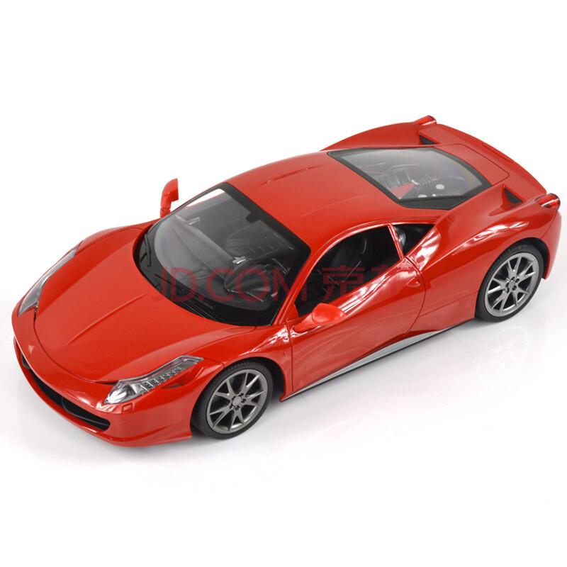 遥控汽车玩具 儿童遥控车模1:14法拉利458充电