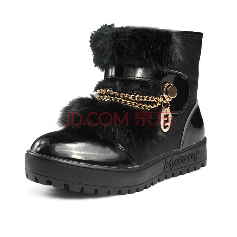 牧童2012冬季新款童鞋女童韩版<font color=red>短靴子</font>保暖鞋