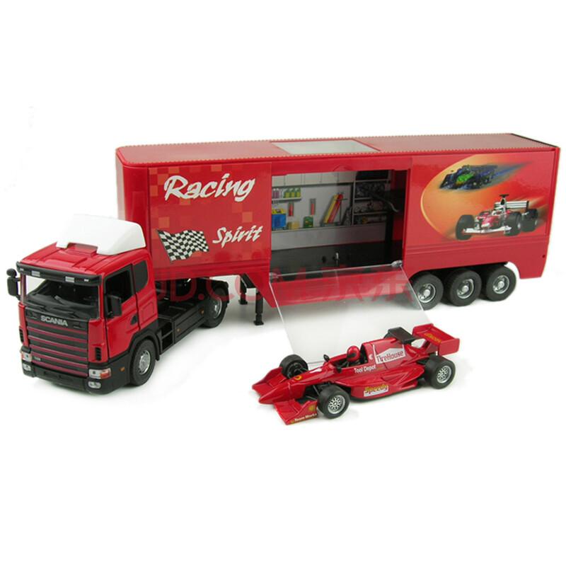 俊基儿童玩具车1:43集装箱托运卡车