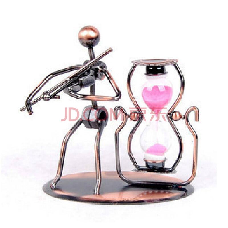 音乐人沙漏计时器玩具奇特创意礼品桌面工艺品摆件