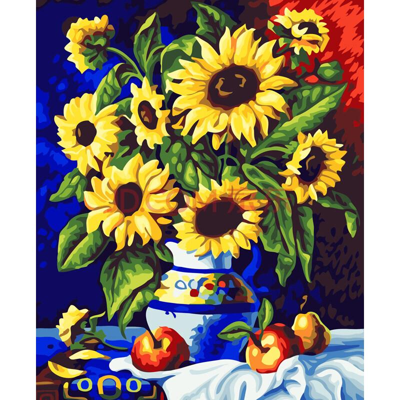 花瓶图案手绘 装饰画