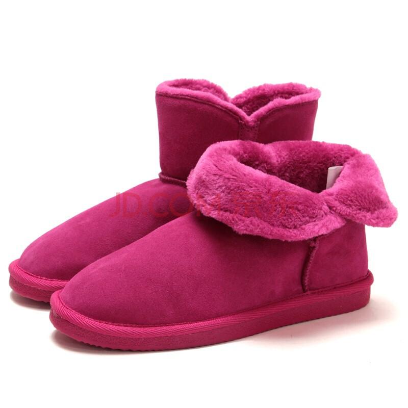 底牛皮靴子 保暖短靴厚底女鞋12cn0941/2/3