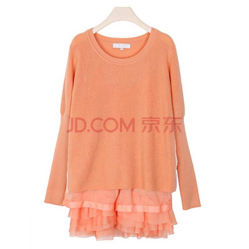 洁可可 jcoco 新款秋装外套 韩版针织衫 两件套毛衫内衬a字裙长袖套头