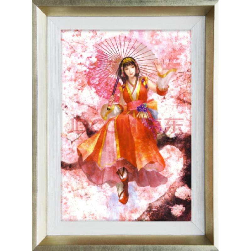 美画 日式动漫 有框画 女孩子房间装饰画 D001