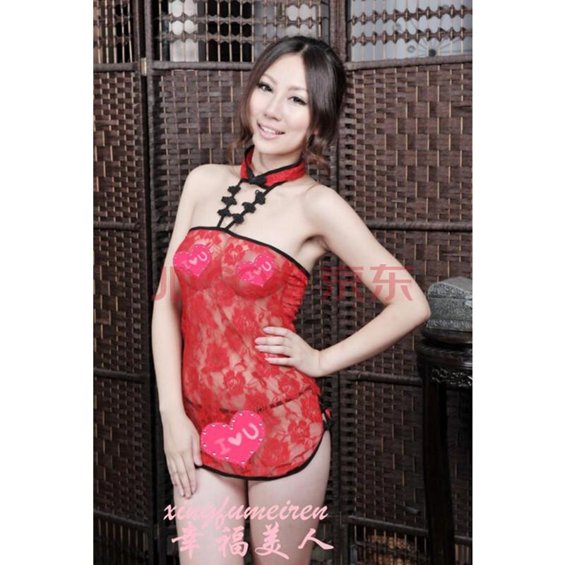超短旗袍 蕾丝粉旗袍