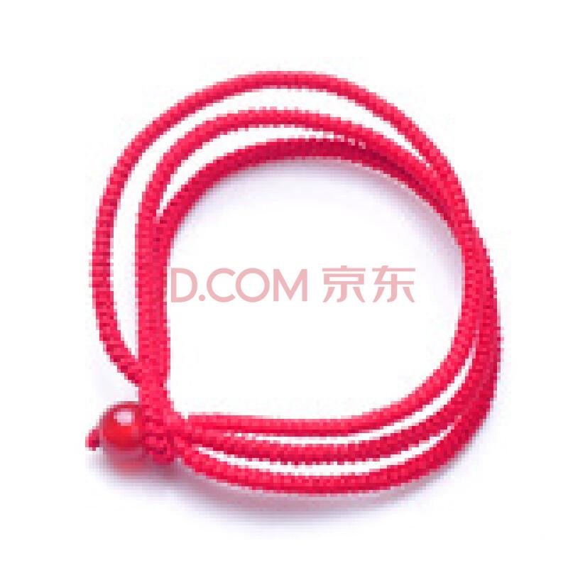 妃晶 纯天然红玛瑙三线红绳女款本命年手链辟邪送女友