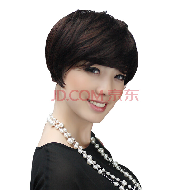 伊莎贝尔假发 短发 女斜刘海 品牌假发套 青岛假发 进口材料 假发 女
