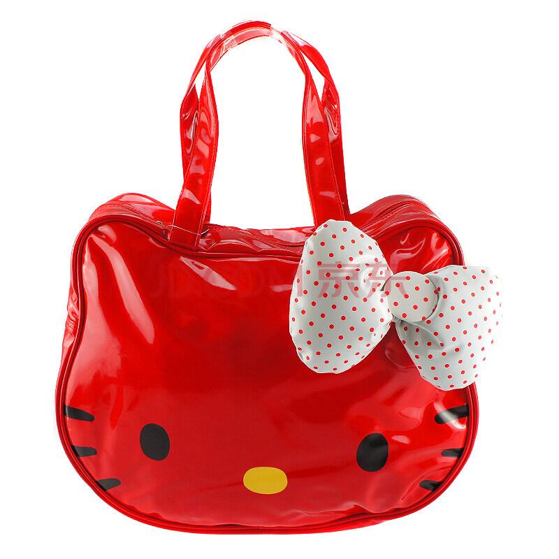 hello kitty凯蒂猫脸超大蝴蝶结可爱时尚单肩时装大包