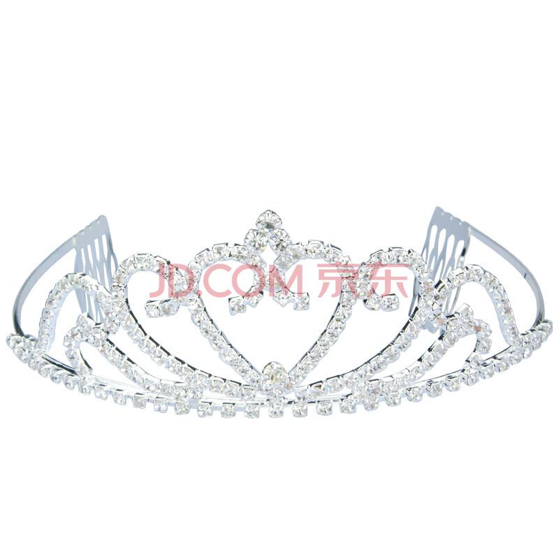 欧卡莎 皇冠头饰 新娘 结婚饰品 婚纱发饰 水晶 心形公主