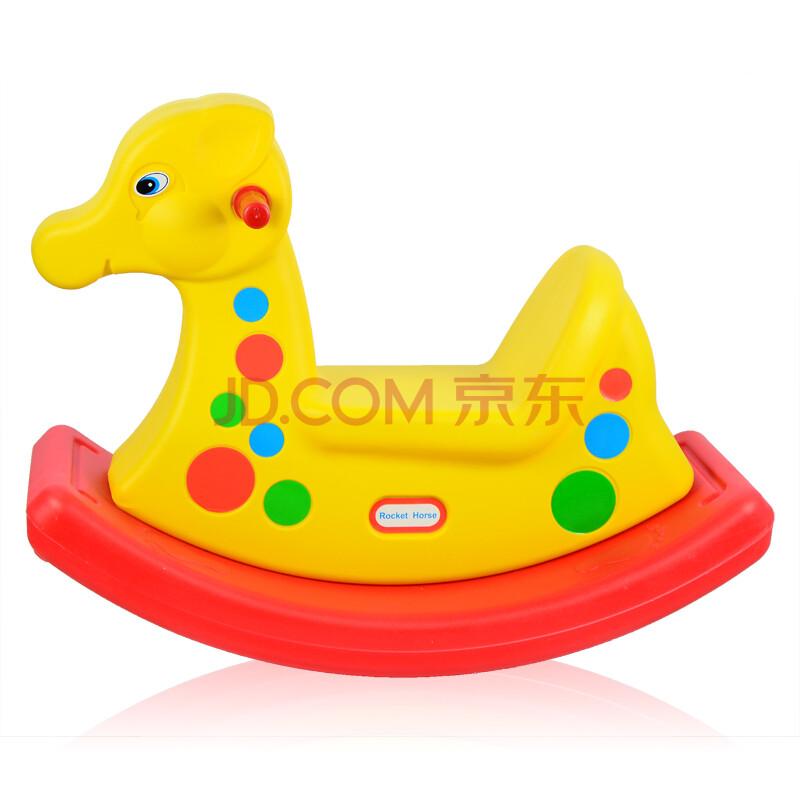 加厚塑料摇摇马小木马儿童玩具小鹿双色摇马图片-京