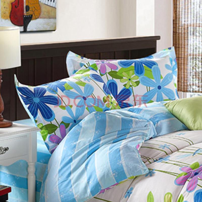 莲姿多种规格床单全棉斜纹印花四件套qfyb01 花式廿一 床单2.3*2.图片