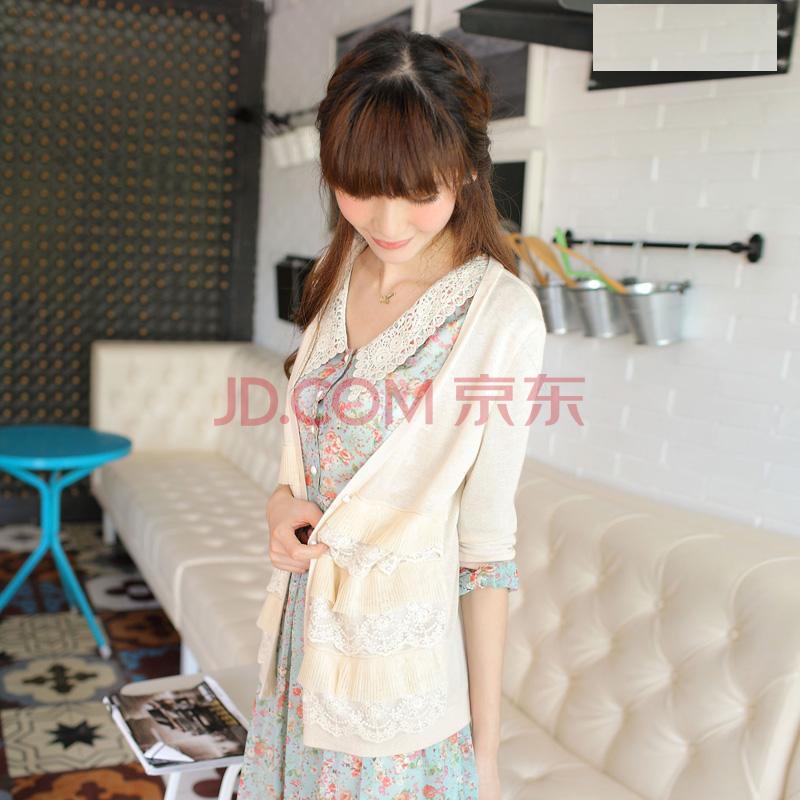 润乙一 runyiyi 2012秋季新品女装 甜美小清新薄款针织衫长...