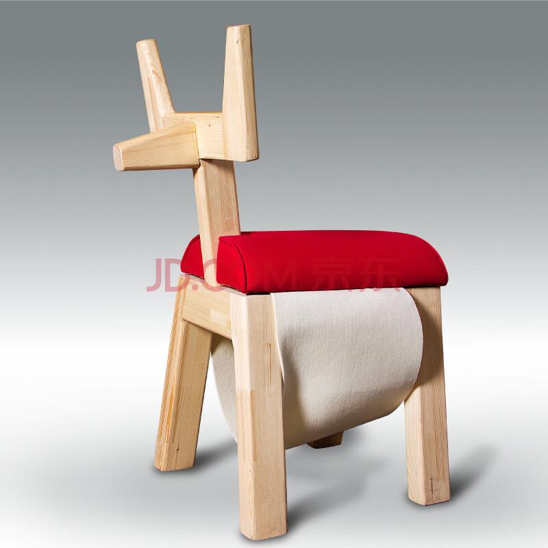 松果儿童家具 儿童凳 100%进口芬兰松木