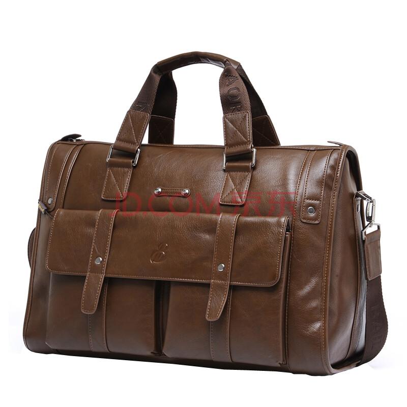 佰利老人BAILLR男包商务公文包休闲男士单肩斜挎包手提包旅行包14寸电脑包1041-5