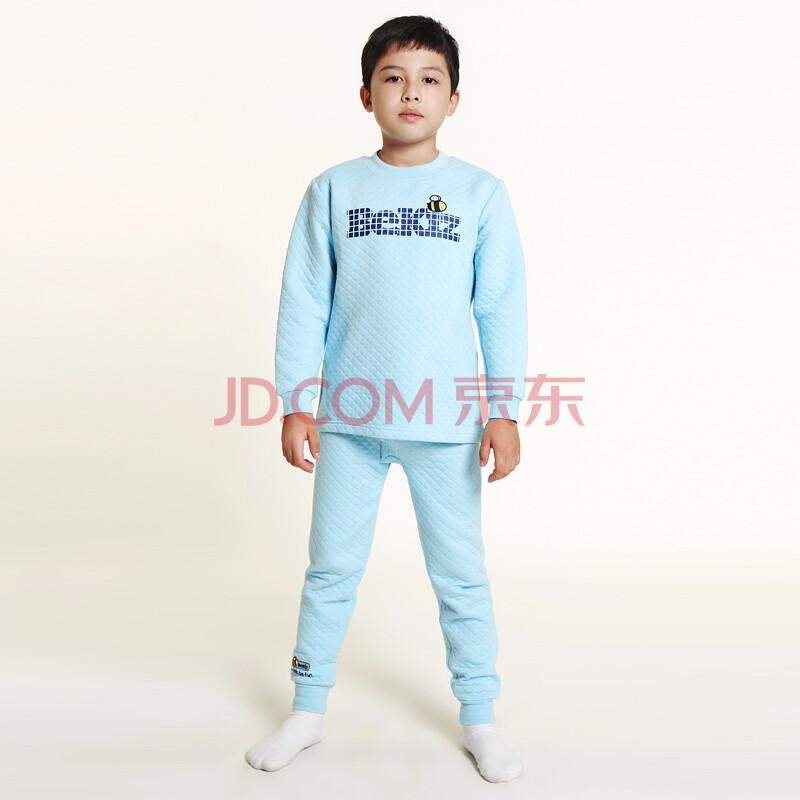 童壹库(bekiz)男童三层保暖秋衣裤 kpwe105901 kuwe105901 星空蓝 140图片
