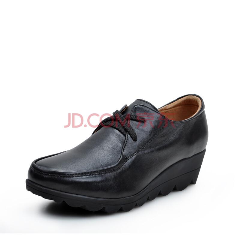 antcity/蚂蚁城女鞋休闲时尚真皮厚底鞋子女款低帮鞋