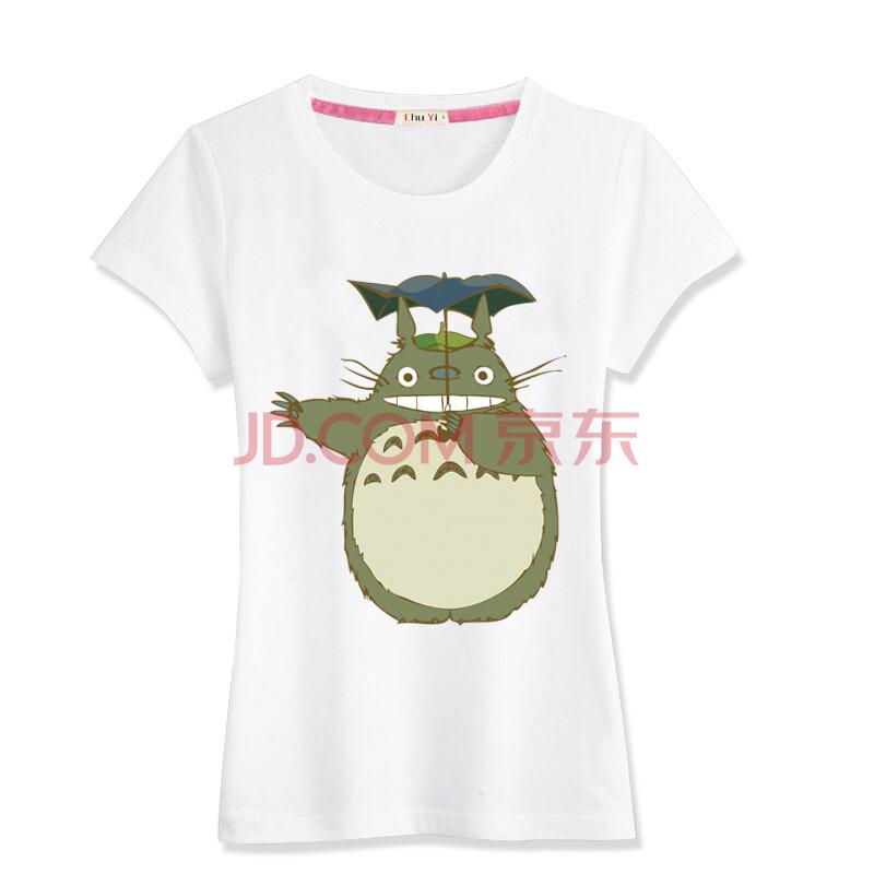 龙猫印花短袖t恤