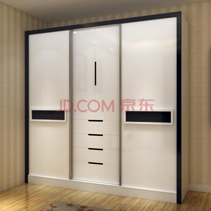 阁润美林 板式衣柜 推拉门衣柜移门整体大衣柜现代简约趟门衣橱衣柜