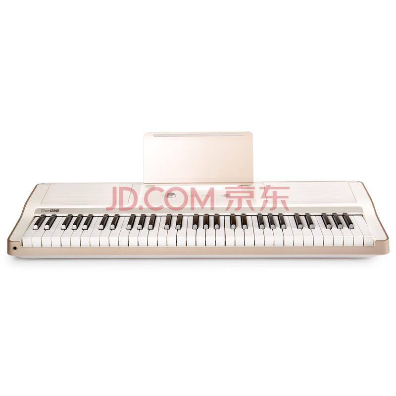 the one智能钢琴便携式light 电子琴 61键 成人儿童数码电钢琴 香槟金