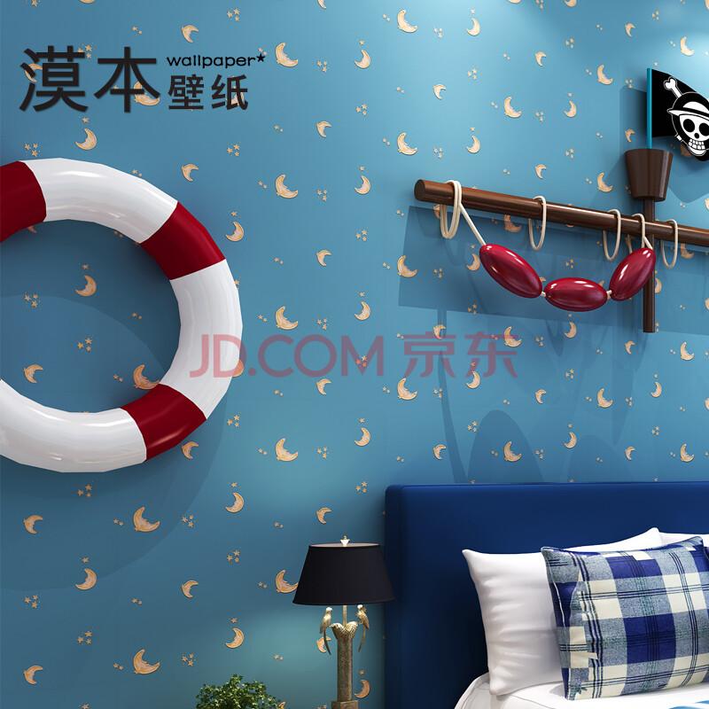 卡通月亮星星温馨背景墙