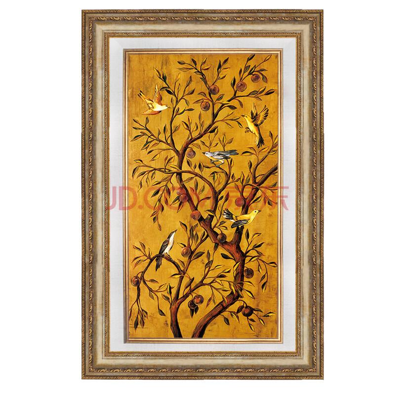 良木客厅装饰画欧式三联油画美式玄关挂画 沙发背景墙图片