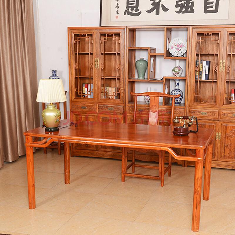 仿古中式家具 实木简约仿古南榆木 画案 简约案台 书法桌 书画桌 书桌