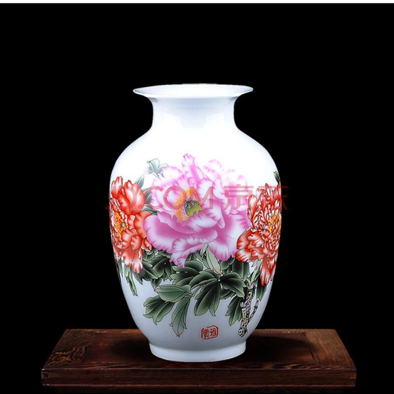 靓缘 景德镇陶瓷器花瓶 现代时尚家饰工艺品摆件 家居