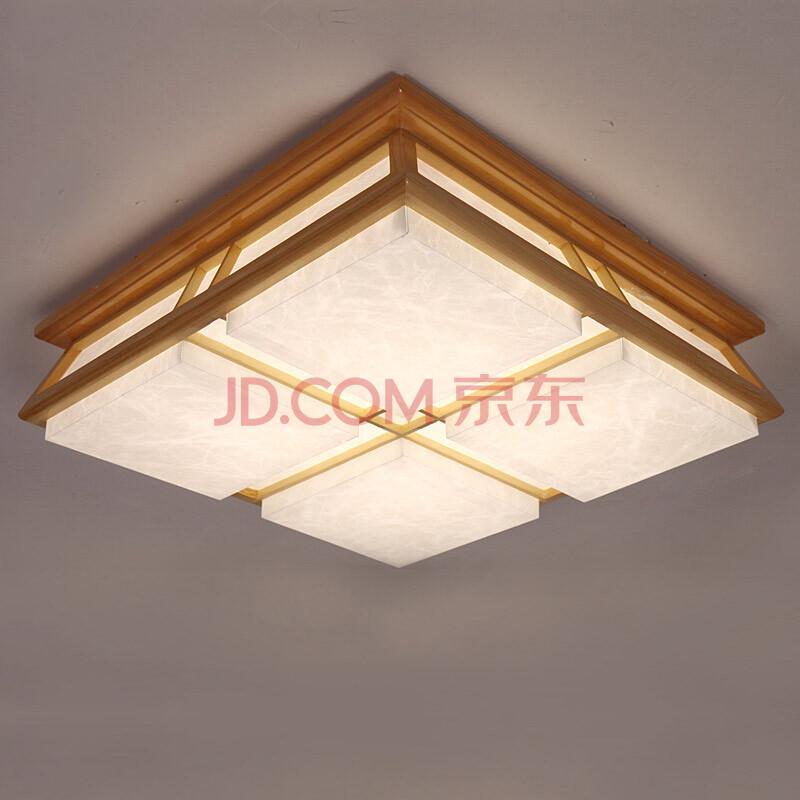 实木榻榻米日式卧室灯 温馨现代简约led羊皮客厅房间吸顶灯 如图顶灯.