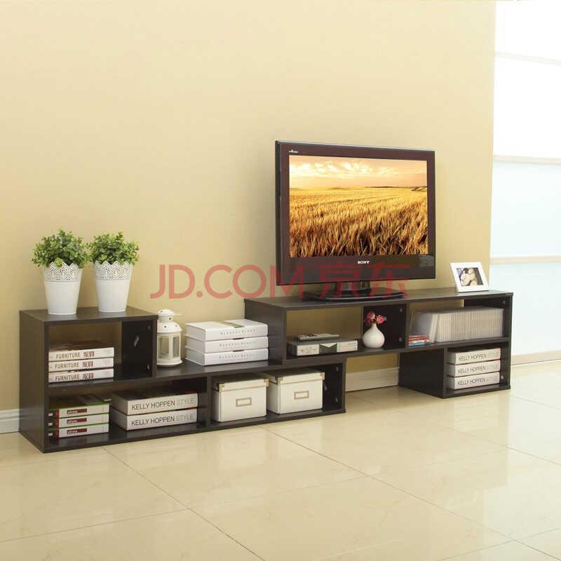 美达斯 贝克L型电视柜 可伸缩组合电视柜地柜 现代简约小户型厅柜 储物柜 黑色