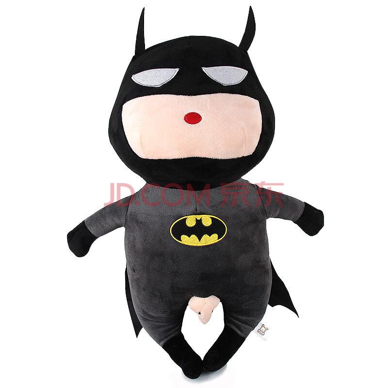 毛绒玩具蜡笔小新公仔变身复仇者联盟q版蝙蝠侠超人美国队长礼物 变身