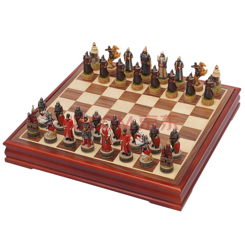 御圣 国际象棋 大号 立体人物国际象棋套装 蒙古俄罗斯人物造型 3012