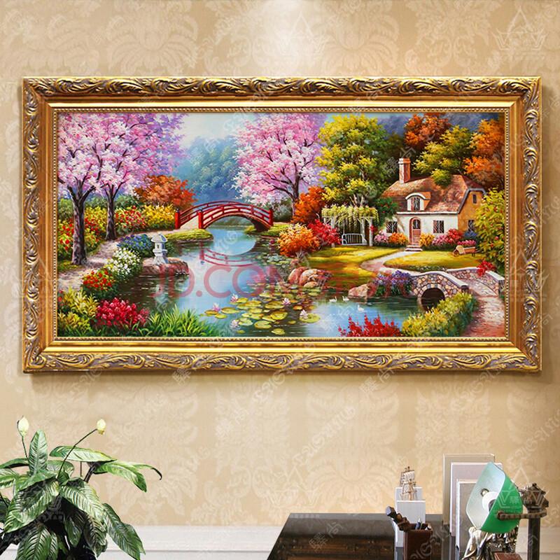 欧式手绘油画 田园山水风景装饰画