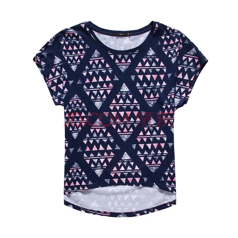 森马2015夏装新款短袖t恤女装圆领套头印花短袖t恤衫女士韩版上衣图片