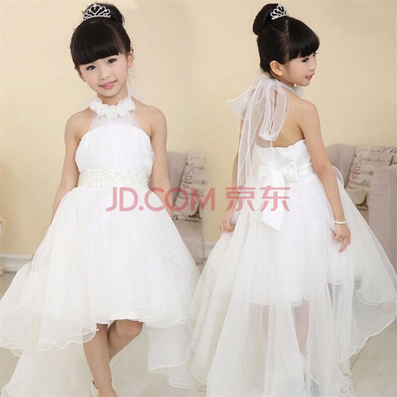 女童花童礼服裙演出舞蹈裙儿童吊带公主裙长拖尾裙